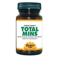 Country Life Total Mins Multi-Mineral w/Boron Tabs