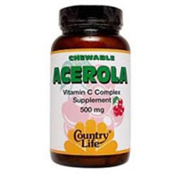 Country Life Vitamins Country Life Acerola C Complex 500 mg Chewable Wafers