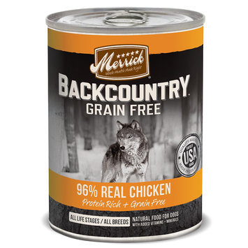 Merrick Pet Care Merrick Backcountry 96% Chicken 12.7 oz Can
