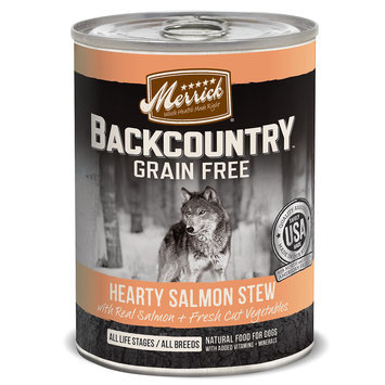 Merrick Pet Care Merrick Backcountry Stew Hearty Salmon 12.7 oz Can