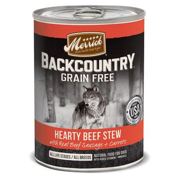 Merrick Pet Care Merrick Backcountry Stew Hearty Beef 12.7 oz Can