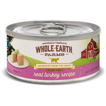 Whole Earth Farms Grain Free Real Turkey Recipe Canned Cat Food