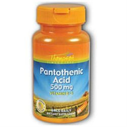 Pantothenic Acid 500mg 60 tabs, Thompson Nutritional Products