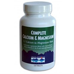 Trace Minerals Research Complete Calcium and Magnesium - 500 mg - 120 Tablets