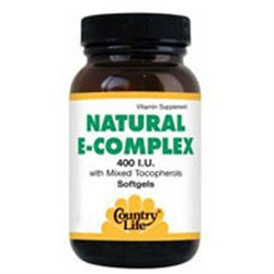 Vitamin E Complex 400 Iu 60 Sgel By Country Life Vitamins (1 Each)