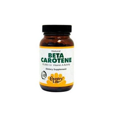 Country Life Natural Beta Carotene - 100 Softgels