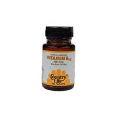 Country Life Vitamins Country Life Vitamin B12 500 mcg Tabs