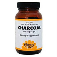 Charcoal Capsules 40 Cap By Country Life Vitamins (1 Each)
