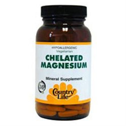 Country Life - Chelated Magnesium 250 mg. - 90 Tablets