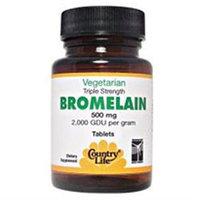 Country Life Triple Strength Bromelain - 500 mg - 60 Tablets