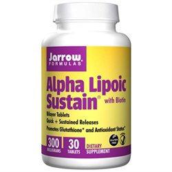 Jarrow Formulas - Alpha Lipoic Sustain with Biotin 300 mg. - 30 Vegetarian Tablets