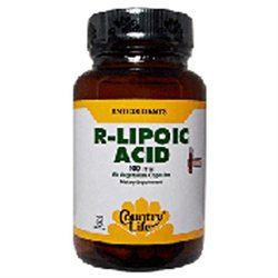 R-lipoic Acid 100mg 60 Vcap By Country Life Vitamins (1 Each)