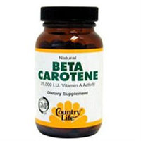 Country Life Natural Beta Carotene - 50 Softgels