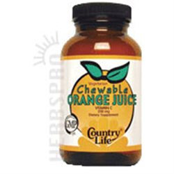 Country Life Vitamins Country Life Chewable Orange Juice Vit C 250 mg Wafers