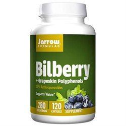 Jarrow Formulas - Bilberry Grapeskin Polyphenols 280 mg. - 120 Vegetarian Capsules