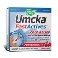 tures Way Umcka FastActives Cold Relief Powder, Cherry, 10 Packets, Nature's Way