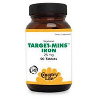 Target Mins Iron 25mg 90 Tab By Country Life Vitamins (1 Each)