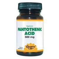 Pantothenic Acid 500 Mg 60 Tab By Country Life Vitamins (1 Each)