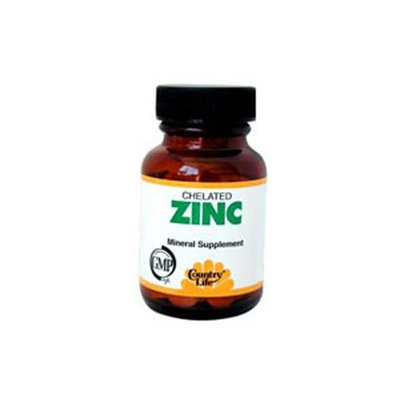 Chelated Zinc 50 Mg 100 Tab By Country Life Vitamins (1 Each)