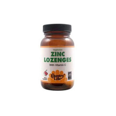 Country Life Zinc + Vitamin C Lozenges, Cherry