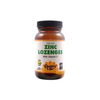 Zinc Lozenges 23mg 60 Tab By Country Life Vitamins (1 Each)