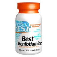 Doctor's Best Benfotiamine - 80 mg - 120 Vegetarian Capsules