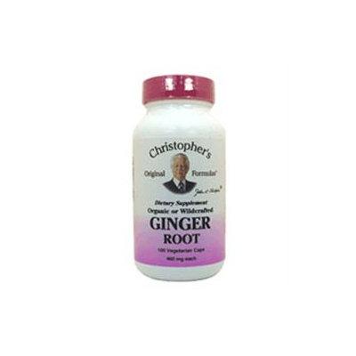 Ginger Root, 450 mg, 100 Vegicaps, Christopher's Original Formulas