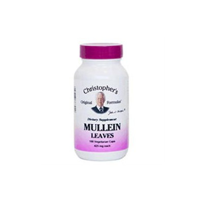 Mullein Leaves, 400 mg, 100 Vegicaps, Christopher's Original Formulas