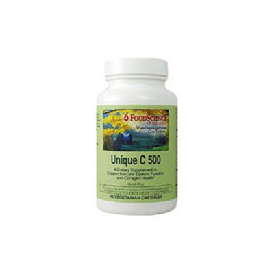 FoodScience of Vermont Unique-C 500 mg Dietary Supplement Capsules