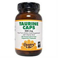 Country Life Taurine Caps - 500 mg - 100 Vegetarian Capsules