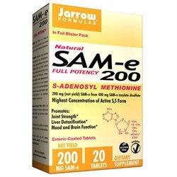 Jarrow Formulas SAM-e 200 - 20 Enteric-Coated Tablets