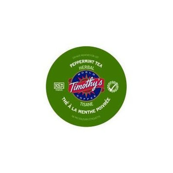 Timothy's Peppermint Tea for Keurig Brewers 24 K-Cups x 4 Boxes