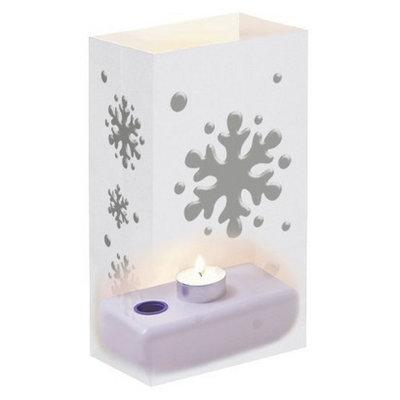 Lumabase Candle Luminaria Kit - Silver/White (12 Ct)