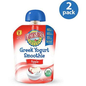 Earth's Best Organic Apple Greek Yogurt Smoothie Stage 2 Baby Food