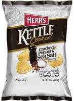 Herr's® Kettle Cooked Cracked Pepper & Sea Salt Potato Chips