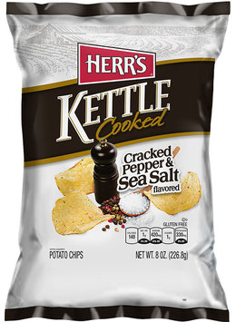 Herr's® Kettle Cooked Cracked Pepper & Sea Salt Potato Chips