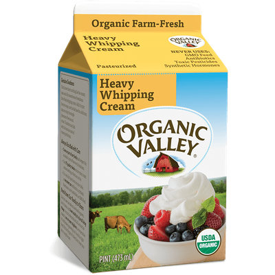 Organic Valley® Heavy Whipping Cream, Pasteurized, Pint