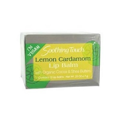 Soothing Touch Lip Balm Lemon Cardamom Vegan - 12 x 0.25 Oz, 2 Pack