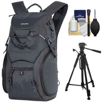 Vanguard Adaptor 41 Digital SLR Camera Backpack Case (Black) with Tripod + Cleaning Kit