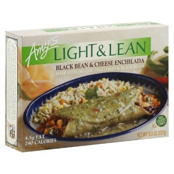 Amy's Kitchen Light & Lean Black Bean and Cheese Enchilada 8 oz