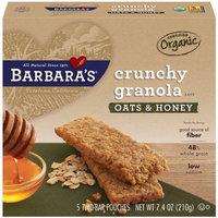 Barbara's Bakery Crunchy Organic Granola Bars, Oats & Honey, 7.4-Ounce Boxes (Pack of 6)