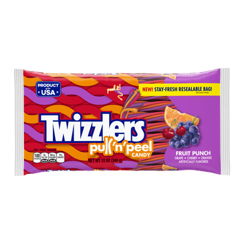 Twizzlers Pull 'n' Peel Fruit Punch Candy Fruit Punch