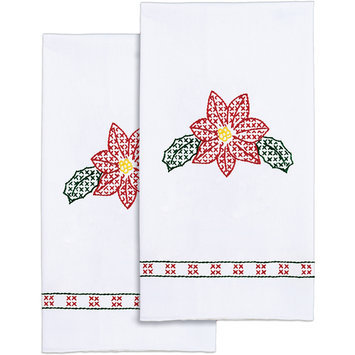 Jack Dempsey Stamped White Decorative Hand Towel 17