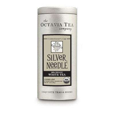 Octavia Tea Silver Needle (Organic White Tea) Loose Tea, 1.23-Ounce Tins (Pack of 2)
