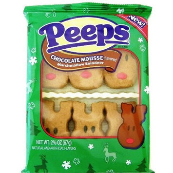 Candy Crate Chocolate Mousse Marshmallow Reindeer Peeps 6ct.