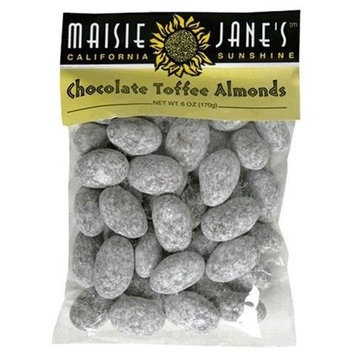 Maisie Jane's Chocolate Toffee Almonds, 4-Ounce Packages (Pack of 3)