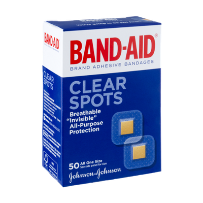 Band-Aid Clear Spots Brand Adhesive Bandages - 50 CT