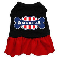 Ahi Bonely in America Screen Print Dress Black with Red XL (16)