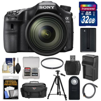 Sony Alpha A77 II Wi-Fi Digital SLR Camera & 16-50mm Lens with 32GB Card + Battery + Charger + Case + Tripod + Filter + Kit