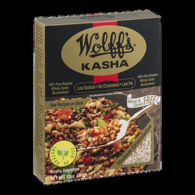 Wolff's Medium Kasha 100% Pure Roasted Buckwheat